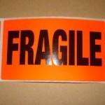 fragile Lables 10pk